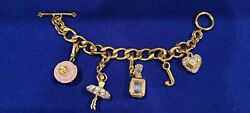 Vintage Juicy Couture Bracelet.5 Charms.signed.heavy.rare Find