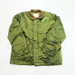 Avirex Used 80s Us Navy Real Usnavy Deck Jacket Quilting Large No.3447