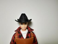 1:9 Scale Black Cowboy Hat Miniature Accessories for Traditional Breyer Dolls