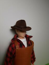 1:9 Scale Brown Cowboy Hat Miniature Accessories for Traditional Breyer Dolls