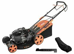Laginza 196cc 22inch 4-in-1 Self-propelled Gas Powered Lawn Mower With Bagger Po