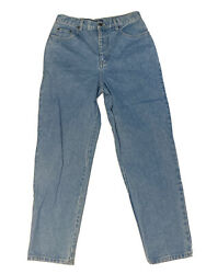 Bill Blass Easy Fit Jeans Light Wash High Rise Size 10 31 / 30 Free Postage