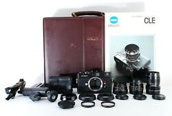 [rare] Minolta Cle 28mm + 40mm + 90mm + Many Accsesaries In Case From Japan 485