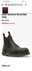 Mens Size 13 Redback Easy Escape Boots. Firefighter Station Wear New In Box