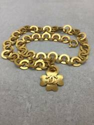 Belt Gld Chain Clover 95p Vintage Box Available Gold Coco Mark No.1389