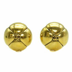 Earring Clover Motif Gp Gold Vintage Womenand039s Staples Popularity No.1815