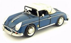 Oversized Metal Tin Toy Classic Cars Vintage Car Retro Blue Collection Interior