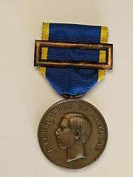 Portugal Very Rare Military Copper Medal Order Campaigns Of The Portuguese Army