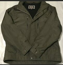 Tech Soft Shell Jacket With Hidden Hood. Menandrsquos Xxl. Olive Green