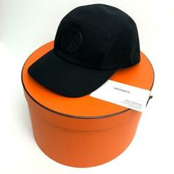 Hermes Cap Nevada Dragon Size 59 Us 7 3/8 With Box Black Nearly Unused 6242mn