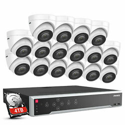 Annke 32ch 12mp H.265+ Nvr 4k/5mp Hd Home Security Poe Audio Camera System Ip67