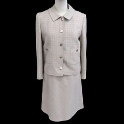 Coco Mark Setup Suit Women And039s Knee Length Tweed Multi Colored No.4958