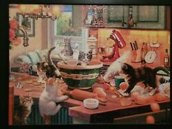 Completed 750 Piece Cat Puzzle