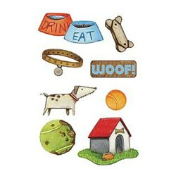 MINI DOGS RUB ON STICKERS BY AMERICAN TRADITIONAL DESIGNS
