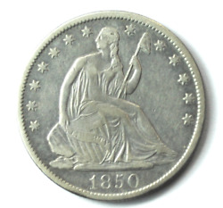 1850 O 50c Seated Liberty Silver Half Dollar Fifty Cents New Orleans