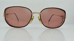 Vintage Black Gold Oval Italy Sunglasses Frames Only