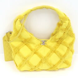 2021 Cruise Line Large Hobo Shoulder Bag Canvas Yellow As2292 No.700