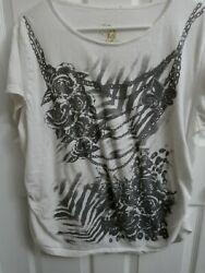 Desiree Since Forever Size 3x Grey/white Graphic Tee