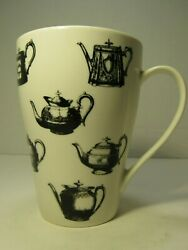Pewter Teapots Paul Cardew Tall Coffee Tea Cup Mug Black White Made In England