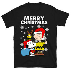 Merry Christmas Snoopy and Charlie Brown Christmas T Shirt Unisex Size S 3XL