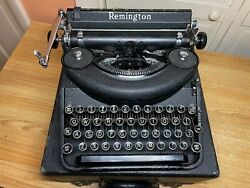 1939 Antique Remington Deluxe Noiseless Portable Typewriter Working W New Ink