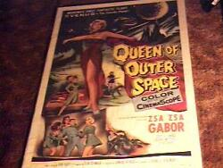 Queen Outer Space Movie Poster And03958 Sci Fi Zsa Zsa Gabor