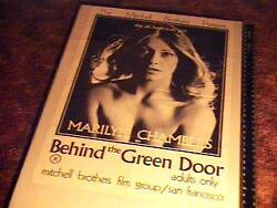 Behind The Green Door Movie Poster Marilyn Chambers