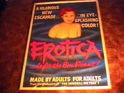 Erotica Movie Poster And03961early Russ Meyer Linen Rare