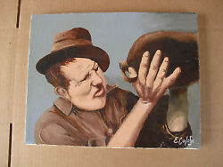 Original Colosi The Last Drop Man With Jug Painting Wow