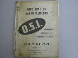 Ford Tractor And Implement O.s.i. Catalog