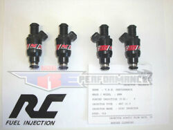 Rc 52lb Flowmatched Fuel Injectors Fit Chevy Ford 4cyl Bosch Style New 550cc