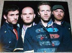 Coldplay Signed Autograph 11x14 Photo Chris Martin +2 W/proof