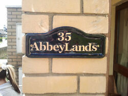 House Number Wall Plaque house name funny signs