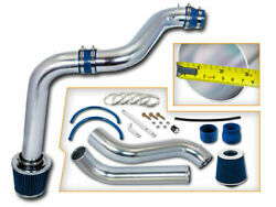3 Blue Cold Air Intake Induction Kit + Filter For 92-96 Prelude 2.2l/2.3l L4