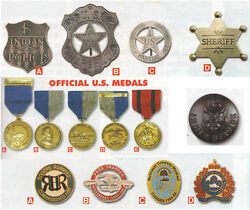 Old West Badges,badge Of The Fur Trade,official Us Metals,gorgets,reproduction