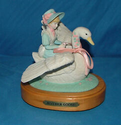 House Of Lloyd Mother Goose Ceramic And Wood Music Box It's A Small World
