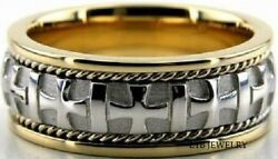 950 Platinum And 18k Yellow Gold Mens Wedding Rings,two Tone Gold Wedding Bands