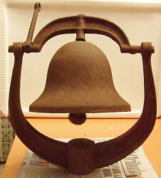 Antique 1700-1800's Iron Bell Marked Usa Post Railroad Church School Ship
