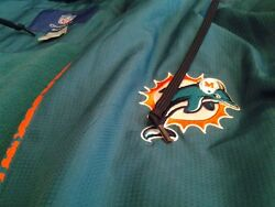 Nfl Miami Dolphins On Field Size Xl Reebok Coat Jacket Hoodie Brand New With Tag