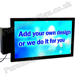Led 2 Side Indoor Rectangular Projecting Light Box Sign 44 71cm Graphic