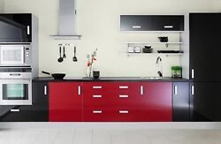 1220mm Premier Glossy Fablon Kitchen Units Cupboard Doors Cover Up Vinyl Part A