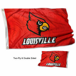 Louisville Cardinals Banner Flag University Double Sided
