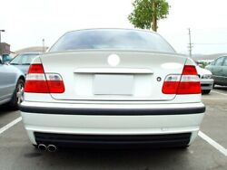 For Bmw E46 3 Series Saloon Rear Boot Trunk Spoiler Lip Wing Sport Trim Lid M3 M