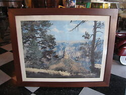 Vintage Union Pacific Railroad Photo Travel Poster Point Imperial Grand Canyon