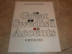 1980's Saab Accessories Sweedish Accents Literature Manual Brochure Pamphlet