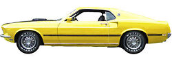 1969 Ford Mustang Mach 1 Tail Gate Refrigerator Tool Box Magnet