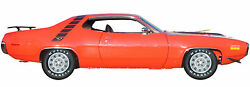 1971 Plymouth Road Runner Tail Gate Refrigerator Tool Box Magnet