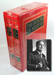 Easton Press Hg Wells Outline Of History Deluxe Limited 400 2 Vol. Sealed