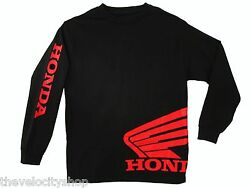 Honda Wing Jersey BLACK t-shirt Motorcycle Racing HRC CRF 250 450 600rr TRX CBR $24.99