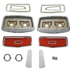 Tail And B/u Lens - Bezel - Gasket Set For 1964 Plymouth Belvedere - Savoy